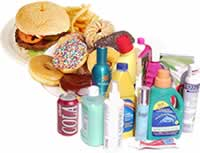 Typical sources of chemical and food toxins